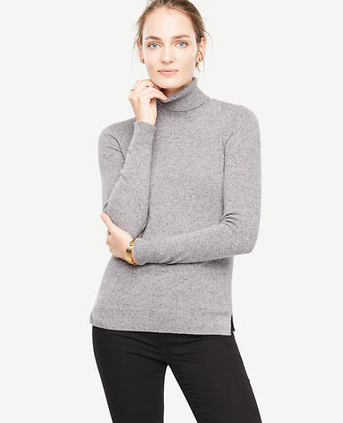 Cashmere Flecked Turtleneck