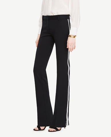 Metallic Stripe Ponte Track Pants