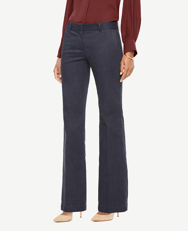 The Madison Trouser in Denim - Curvy Fit