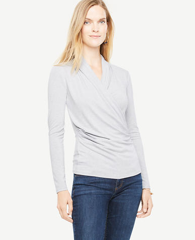 Faux Wrap Knit Top