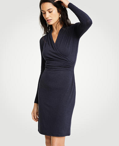 Faux Wrap Knit Dress