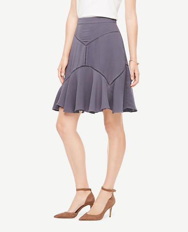 Cutout Seamed Skirt