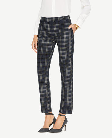 The Tall Ankle Pant In Plaid - Kate Fit