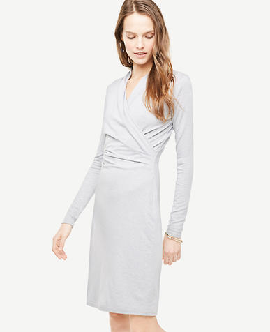 Tall Faux Wrap Knit Dress
