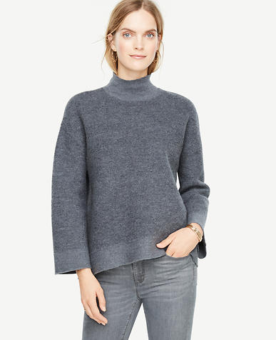 Boiled Wool Turtleneck Sweater