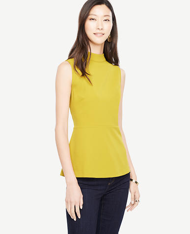 Image of Peplum Tie Back Top
