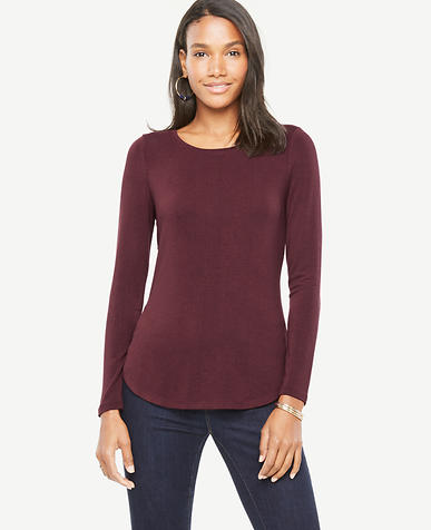 Image of Petite Jersey Layering Top