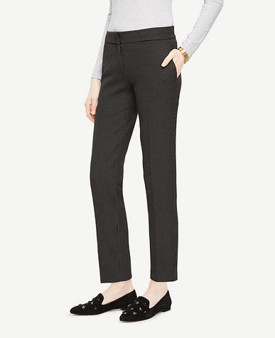 The Ankle Pant In Pindot - Kate Fit