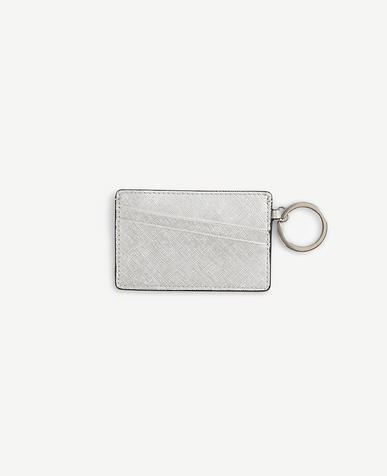 Metallic Leather Card Case