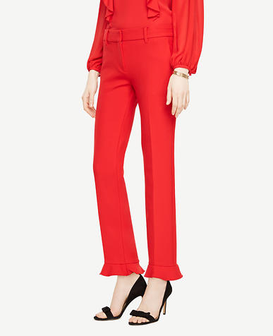 The Tall Ankle Pant with Ruffle Cuff