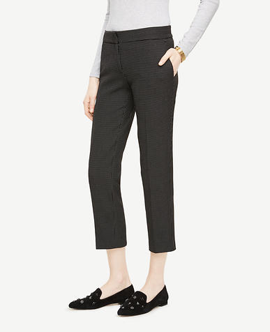 The Tall Ankle Pant In Pindot - Kate Fit