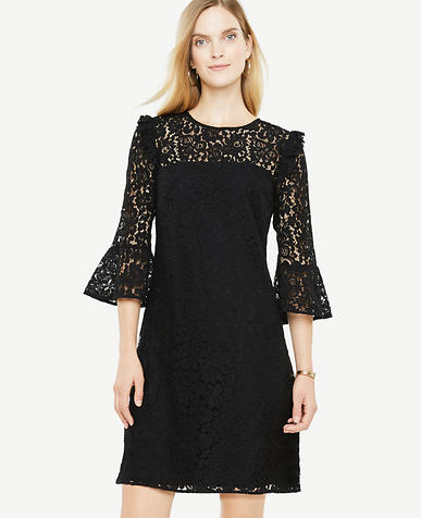 Tall Bell Sleeve Lace Shift Dress