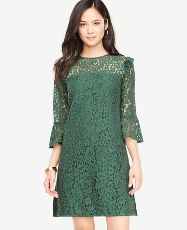 Petite Bell Sleeve Lace Shift Dress