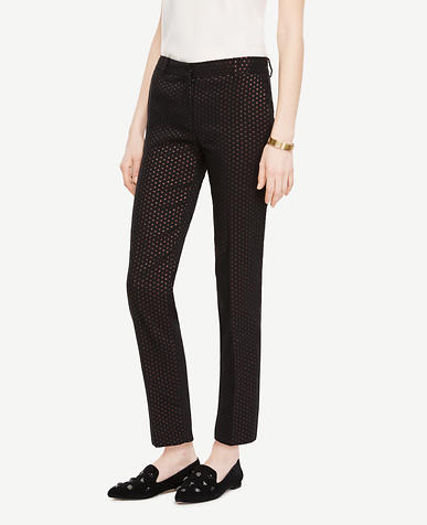 The Tall Ankle Pant In Metallic Dot - Devin Fit