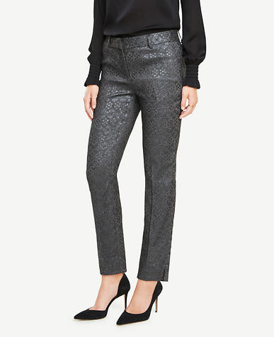 The Tall Ankle Pant In Shimmer Jacquard - Devin Fit