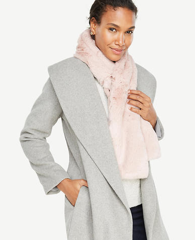 Pink Weekend Faux Fur Stole