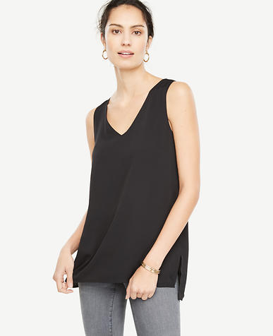 Tall Stepped Hem Tank