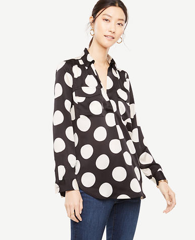 Petite Polka Dot Camp Shirt