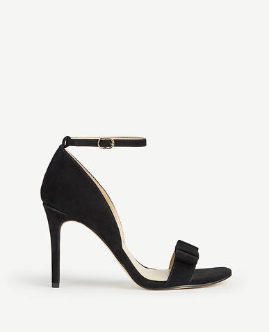 Louise Suede Bow Heeled Sandals