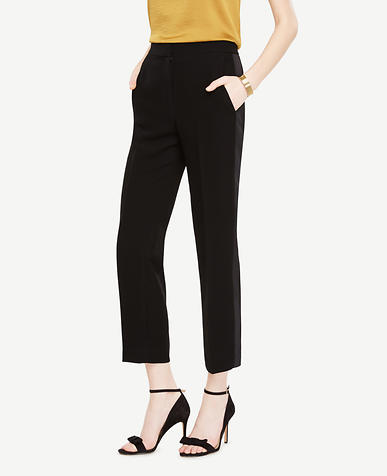 The Tall Tuxedo Ankle Pant In Doubleweave - Devin Fit