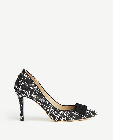 Jolie Tweed Bow Pumps