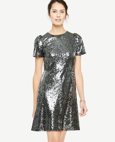 Petite Sequin Sheath Dress
