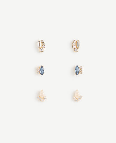 Gem Stud Earring Set