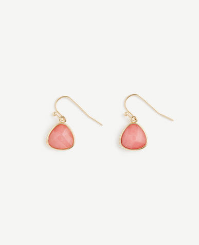 Small Bezel Drop Earrings