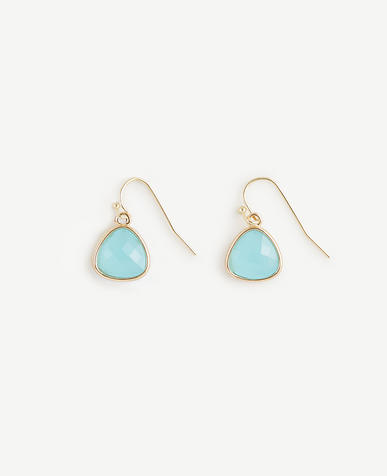 Image of Small Bezel Drop Earrings