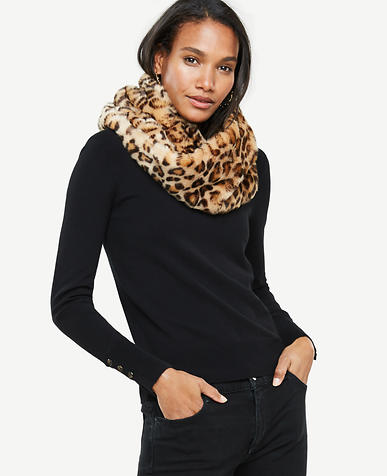 Cheetah Faux Fur Snood