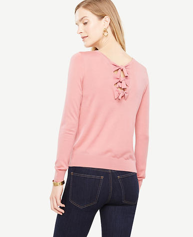 Petite Bow Back Sweater