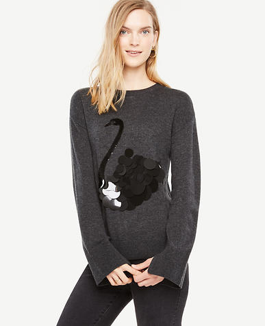 Sequin Swan Sweater