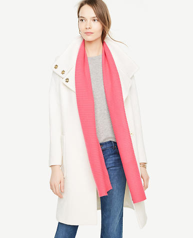 Cashmere Ribbed Scarf