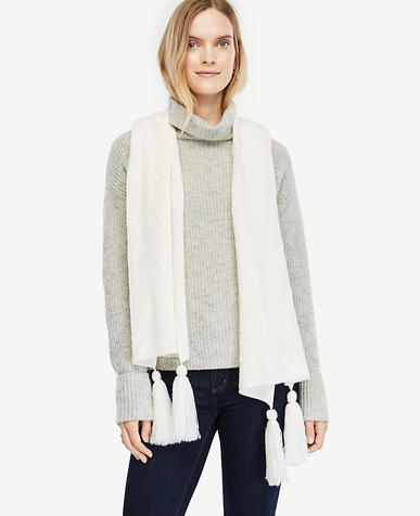 Tassel Knit Scarf