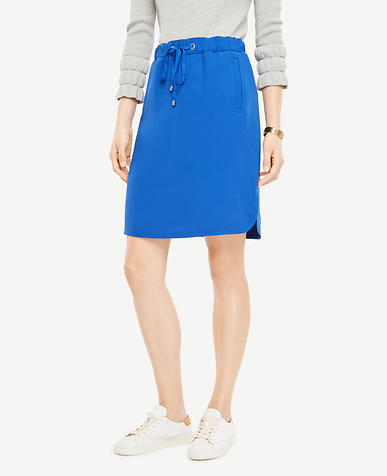 Drawstring Jogger Skirt