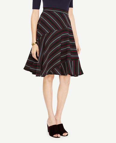 Striped Full Skirt