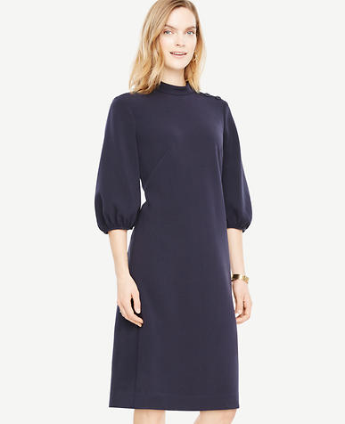 Petite Puff Sleeve Shift Dress