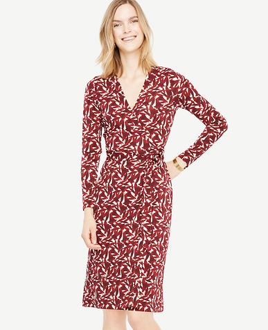 Petite Floral Wrap Dress