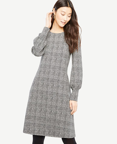 Petite Plaid Cuffed Dress