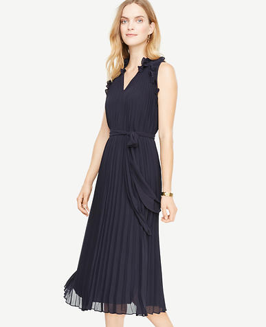 Petite Pleated Flutter Dress