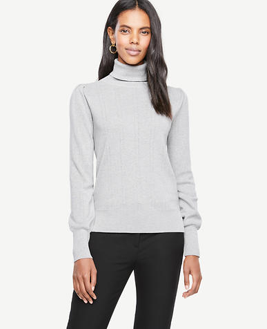Pointelle Turtleneck