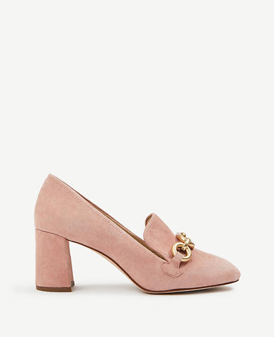 Cordelia Suede Chained Loafer Pumps