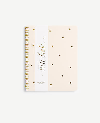 Sugar Paper Gold Dot Spiral Notebook