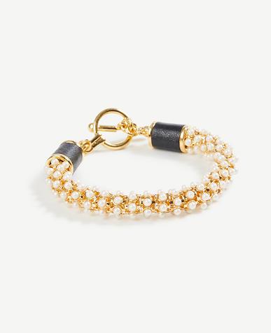 Pearlized Wrap Bracelet