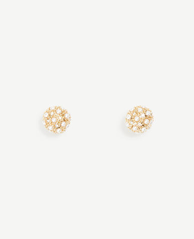 Pearlized Fireball Stud Earrings