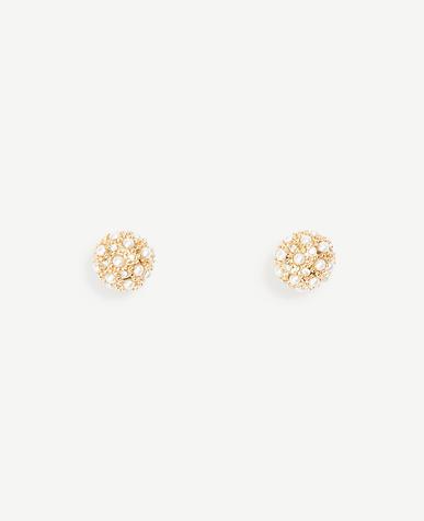 Pearlized Fireball Stud Earrings