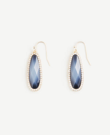 Pave Bezel Drop Earrings