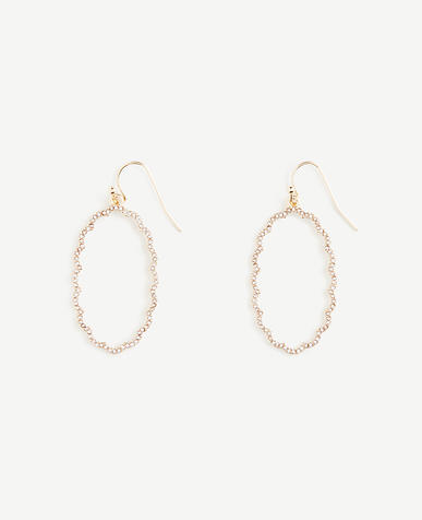Pave Scallop Drop Earrings