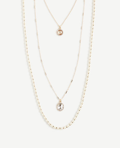 Pearlized Layering Necklace