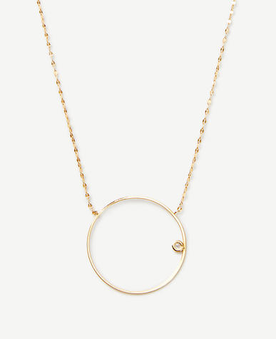 Hoop Pendant Necklace